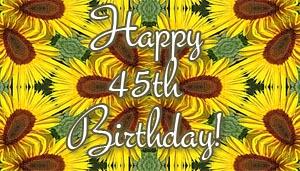 45th Birthday Wishes