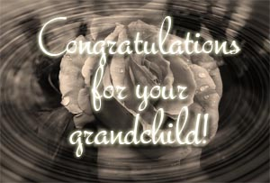 Grandchild Congratulations
