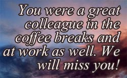 farewell message for coworker leaving humorous | Michelle blog