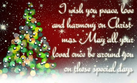 Peaceful christmas wishes