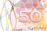 Nice Happy 50th Birthday Card
