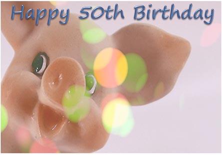 50th Birthday Wishes Card